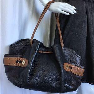 Cole Haan Leather Drawstring Hobo Bucket Bag